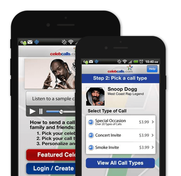 Entertainment App – Celeb Calls