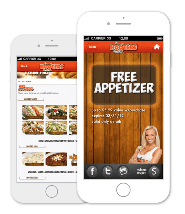 Restaurant Loyalty Program App – Hooters Club of America