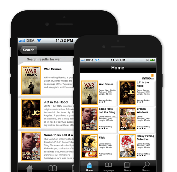 Streaming Media App – Inmoo